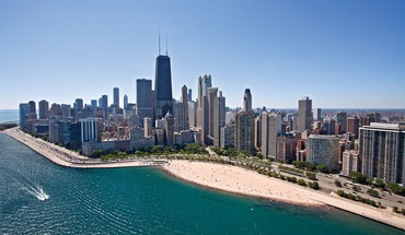 Chicago beaches cityscapes HD wallpaper