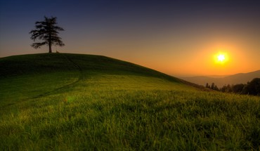 Fields landscapes sunset HD wallpaper
