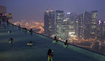 Marina bay sands singapore infinity pools HD wallpaper
