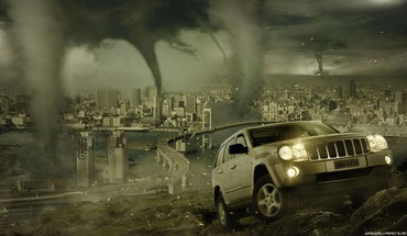 Tornado cityscapes HD wallpaper