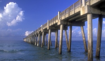 Florida gulf beaches piers HD wallpaper