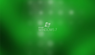 Microsoft windows 7 dots green HD wallpaper