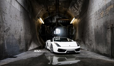 ADV 1 Lamborghini Gallardo Spyder automobiliai balta  HD wallpaper