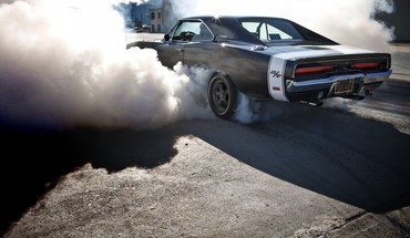 Dodge charger rt black burnout vehicles HD wallpaper