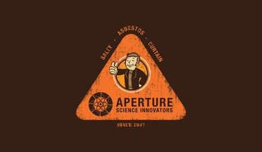 Portal minimalistic fallout funny artwork aperture laboratories 2 HD wallpaper
