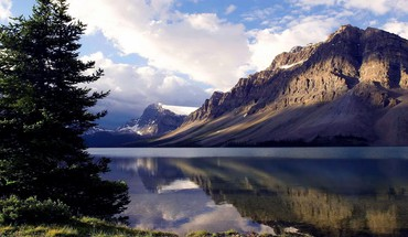 Canada bows nature reflections skyscapes HD wallpaper