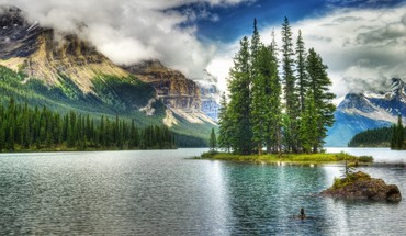 lac bleu brun du Canada PARC NATIONAL JASPER  HD wallpaper