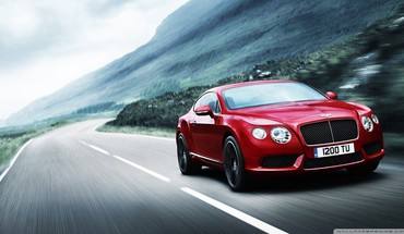 Bentley continental cars red HD wallpaper