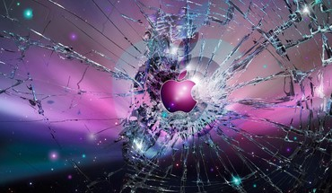 Apple inc abstract broken screen HD wallpaper