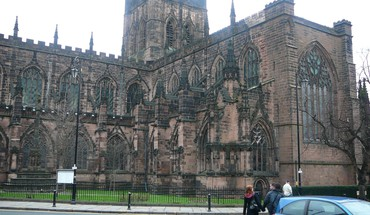 Chester england architecture HD wallpaper