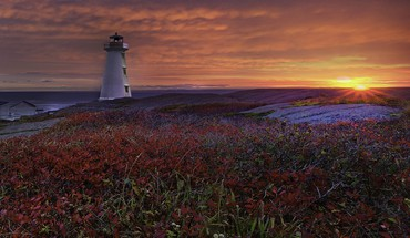 Capes lighthouses nature sunrise sunset HD wallpaper