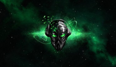 Destruction destroyed glowing alienware alien black background HD wallpaper