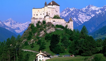 Mount switzerland castle landscapes nature HD wallpaper
