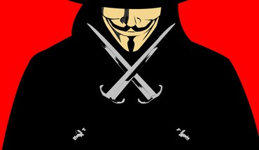Guy Fawkes V wie Vendetta Kunstwerk cartoonish Dolche  HD wallpaper