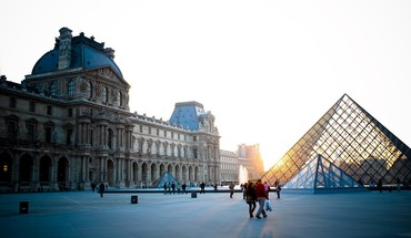 France louvre museum paris area artwork HD wallpaper
