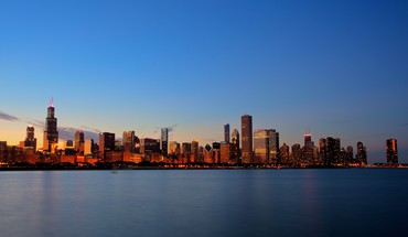 Beautiful chicago skyline HD wallpaper