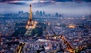 Eiffel tower paris city lights skyline HD wallpaper