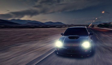 Cars subaru roads vehicles impreza wrx sti HD wallpaper