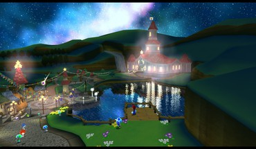 Mushroom kingdom super mario galaxy HD wallpaper
