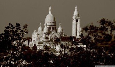 Montmartre paris sacré coeur cityscapes HD wallpaper