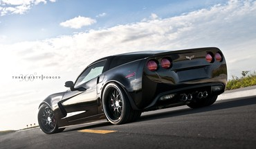 Chevrolet corvette z06 three sixty forged automobiles black HD wallpaper