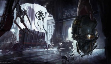 Video games robots dishonored game art HD wallpaper