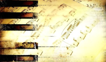 Digital art piano keys sheet music HD wallpaper