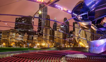 Cityscapes chicago night usa HD wallpaper