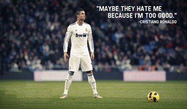 Quotes soccer real madrid cristiano ronaldo HD wallpaper