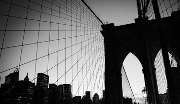 Architecture bridges cityscapes grayscale monochrome HD wallpaper