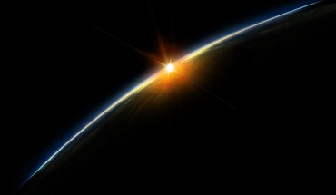 Sunset from space HD wallpaper