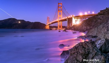 Light night rocks golden gate bridge san francisco HD wallpaper
