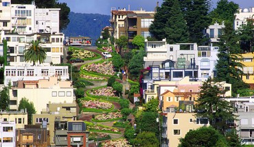 Lombard street san francisco architecture streets HD wallpaper