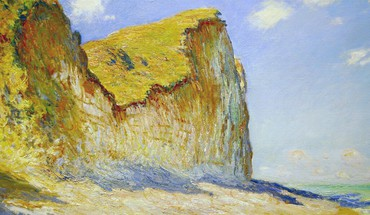 Paintings beach cliffs claude monet impressionism HD wallpaper