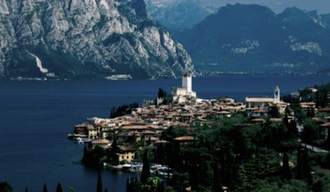 Landscapes nature italy lakes malcesine garda lake HD wallpaper