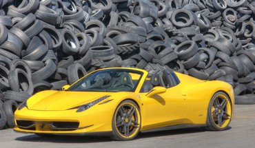 Novitec rosso tuned yellow ferrari 458 spider HD wallpaper