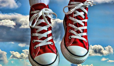 Nuages ​​chaussures converse photographie HDR formateurs  HD wallpaper