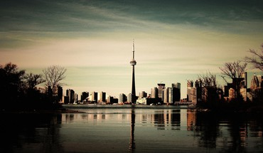 Tourism dusk cn tower geography north america HD wallpaper