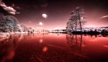 Red lake pictures HD wallpaper