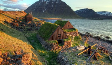 Landscapes houses iceland HD wallpaper