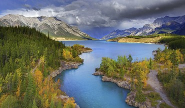 Paysages nature Alberta Banff couleurs de parc national canal  HD wallpaper