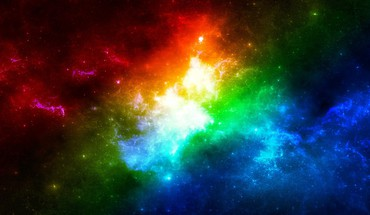 Rainbow nebula HD wallpaper