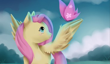 ? Fluttershy my little pony Schmetterlinge  HD wallpaper