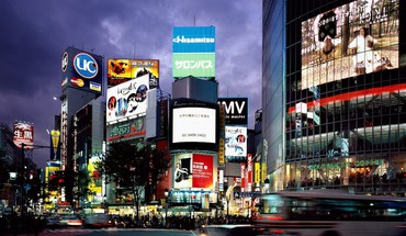 Japan shibuya tokyo advertisement HD wallpaper