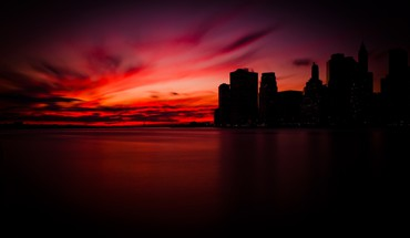 Manhattan cityscapes sunset HD wallpaper