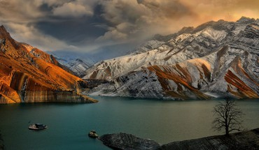 Iran dam landscapes nature rivers HD wallpaper