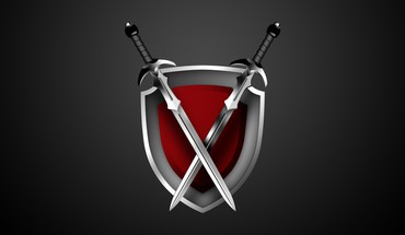 Vector weapons shield swords graphics gradient background HD wallpaper