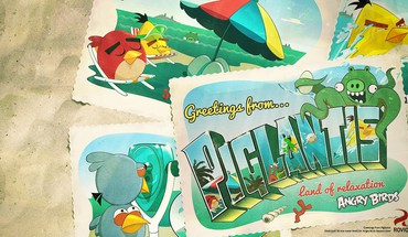 Angry birds piglantis HD wallpaper