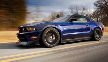 Ford mustang blue vehicles HD wallpaper