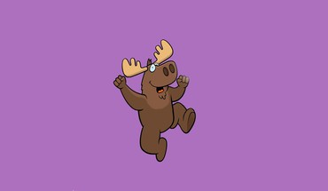 Happy jumping moose purple background HD wallpaper